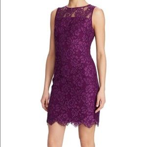 Ralph Lauren Purple Lace Dress